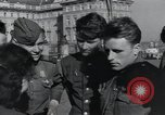 Image of Russian soldiers Prague Czechoslovakia, 1945, second 51 stock footage video 65675046380