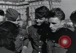 Image of Russian soldiers Prague Czechoslovakia, 1945, second 52 stock footage video 65675046380
