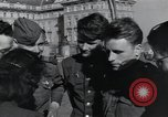 Image of Russian soldiers Prague Czechoslovakia, 1945, second 53 stock footage video 65675046380