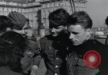 Image of Russian soldiers Prague Czechoslovakia, 1945, second 55 stock footage video 65675046380