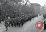 Image of Czech soldiers march Prague Czechoslovakia, 1945, second 4 stock footage video 65675046381