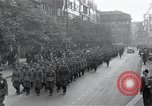 Image of Czech soldiers march Prague Czechoslovakia, 1945, second 6 stock footage video 65675046381