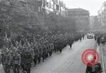 Image of Czech soldiers march Prague Czechoslovakia, 1945, second 9 stock footage video 65675046381
