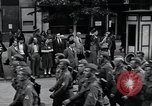 Image of Czech soldiers march Prague Czechoslovakia, 1945, second 16 stock footage video 65675046381