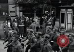 Image of Czech soldiers march Prague Czechoslovakia, 1945, second 18 stock footage video 65675046381