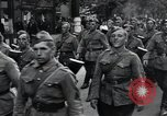 Image of Czech soldiers march Prague Czechoslovakia, 1945, second 26 stock footage video 65675046381