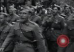 Image of Czech soldiers march Prague Czechoslovakia, 1945, second 29 stock footage video 65675046381