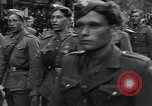 Image of Czech soldiers march Prague Czechoslovakia, 1945, second 30 stock footage video 65675046381