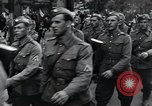 Image of Czech soldiers march Prague Czechoslovakia, 1945, second 31 stock footage video 65675046381