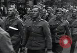 Image of Czech soldiers march Prague Czechoslovakia, 1945, second 32 stock footage video 65675046381