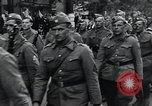 Image of Czech soldiers march Prague Czechoslovakia, 1945, second 33 stock footage video 65675046381