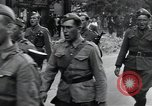 Image of Czech soldiers march Prague Czechoslovakia, 1945, second 38 stock footage video 65675046381