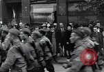Image of Czech soldiers march Prague Czechoslovakia, 1945, second 52 stock footage video 65675046381