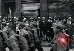 Image of Czech soldiers march Prague Czechoslovakia, 1945, second 53 stock footage video 65675046381