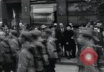 Image of Czech soldiers march Prague Czechoslovakia, 1945, second 54 stock footage video 65675046381