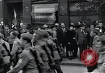 Image of Czech soldiers march Prague Czechoslovakia, 1945, second 55 stock footage video 65675046381