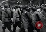 Image of Czech soldiers march Prague Czechoslovakia, 1945, second 56 stock footage video 65675046381