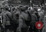 Image of Czech soldiers march Prague Czechoslovakia, 1945, second 59 stock footage video 65675046381
