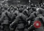 Image of Czech soldiers march Prague Czechoslovakia, 1945, second 61 stock footage video 65675046381