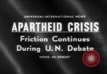 Image of apartheid crisis South Africa, 1960, second 4 stock footage video 65675046752