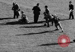 Image of Football game of Carnegie Mellon versus Pittsburgh Pittsburgh Pennsylvania USA, 1938, second 33 stock footage video 65675049467