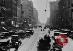 Image of Busy city street with traffic circa 1925 United States USA, 1925, second 13 stock footage video 65675050488