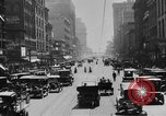 Image of Busy city street with traffic circa 1925 United States USA, 1925, second 15 stock footage video 65675050488
