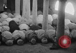 Image of Muslims performing namaz (Salat) Delhi India, 1936, second 43 stock footage video 65675050628