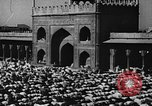 Image of Muslims performing namaz (Salat) Delhi India, 1936, second 61 stock footage video 65675050628