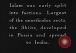 Image of Shia Muslims commemorate death of Ali, Mohammed's son-in-law India, 1936, second 10 stock footage video 65675050629