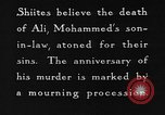 Image of Shia Muslims commemorate death of Ali, Mohammed's son-in-law India, 1936, second 28 stock footage video 65675050629