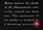Image of Shia Muslims commemorate death of Ali, Mohammed's son-in-law India, 1936, second 30 stock footage video 65675050629