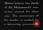 Image of Shia Muslims commemorate death of Ali, Mohammed's son-in-law India, 1936, second 31 stock footage video 65675050629