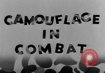 Image of Camouflage in Combat United States USA, 1945, second 31 stock footage video 65675050679