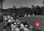 Image of Ben Hogan with military escorts at 1953 golf Masters Tournament Augusta Georgia USA, 1953, second 7 stock footage video 65675050719