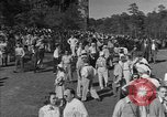 Image of Ben Hogan with military escorts at 1953 golf Masters Tournament Augusta Georgia USA, 1953, second 10 stock footage video 65675050719