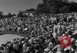 Image of Ben Hogan with military escorts at 1953 golf Masters Tournament Augusta Georgia USA, 1953, second 15 stock footage video 65675050719
