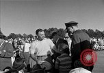 Image of Ben Hogan with military escorts at 1953 golf Masters Tournament Augusta Georgia USA, 1953, second 54 stock footage video 65675050719