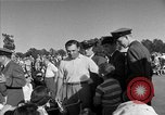 Image of Ben Hogan with military escorts at 1953 golf Masters Tournament Augusta Georgia USA, 1953, second 55 stock footage video 65675050719