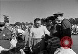 Image of Ben Hogan with military escorts at 1953 golf Masters Tournament Augusta Georgia USA, 1953, second 56 stock footage video 65675050719