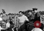 Image of Ben Hogan with military escorts at 1953 golf Masters Tournament Augusta Georgia USA, 1953, second 58 stock footage video 65675050719