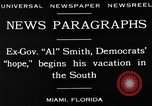 Image of Alfred Emanuel Smith Miami Florida USA, 1930, second 3 stock footage video 65675050769