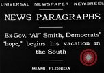Image of Alfred Emanuel Smith Miami Florida USA, 1930, second 5 stock footage video 65675050769