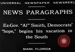 Image of Alfred Emanuel Smith Miami Florida USA, 1930, second 9 stock footage video 65675050769