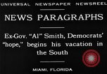 Image of Alfred Emanuel Smith Miami Florida USA, 1930, second 11 stock footage video 65675050769