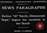 Image of Alfred Emanuel Smith Miami Florida USA, 1930, second 13 stock footage video 65675050769