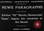Image of Alfred Emanuel Smith Miami Florida USA, 1930, second 14 stock footage video 65675050769