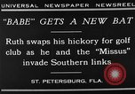 Image of Babe Ruth playing golf Saint Petersburg Florida USA, 1930, second 4 stock footage video 65675050771