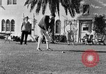 Image of Babe Ruth playing golf Saint Petersburg Florida USA, 1930, second 40 stock footage video 65675050771