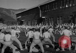 Image of Japanese high school boys train with soldiers Japan, 1942, second 36 stock footage video 65675050776